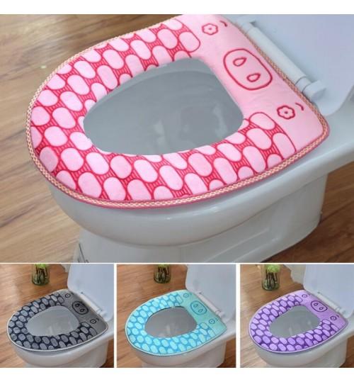Bathroom Toilet Seat Warmer Cover Washable