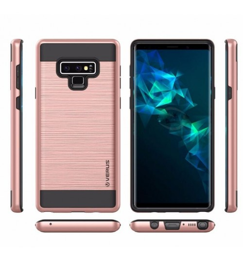 Galaxy Note 9 case impact proof hybrid case brushed