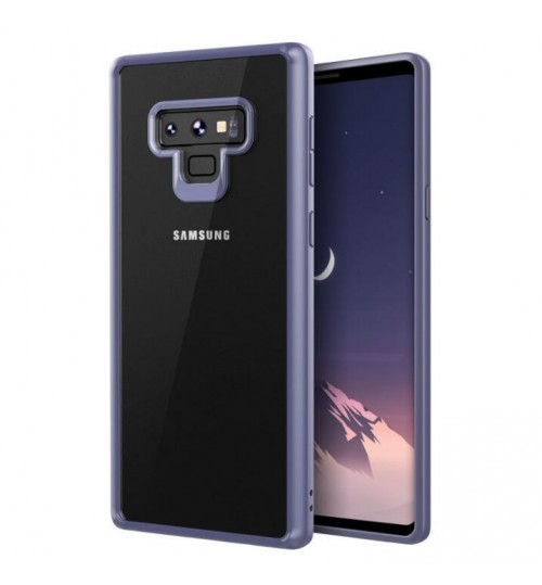 Galaxy Note 9 case bumper  clear gel back cover