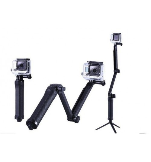 3 Way Selfie tripod compatible with GOPRO Hero 4 3 3+