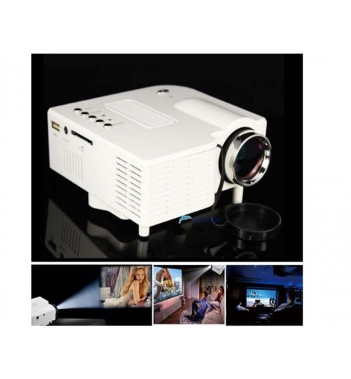Projector 1080P HD Multimedia LED TV VGA HDMI USB For Home Theater Cinema