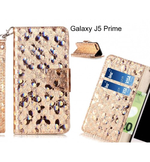 Galaxy J5 Prime  case wallet leather butterfly case