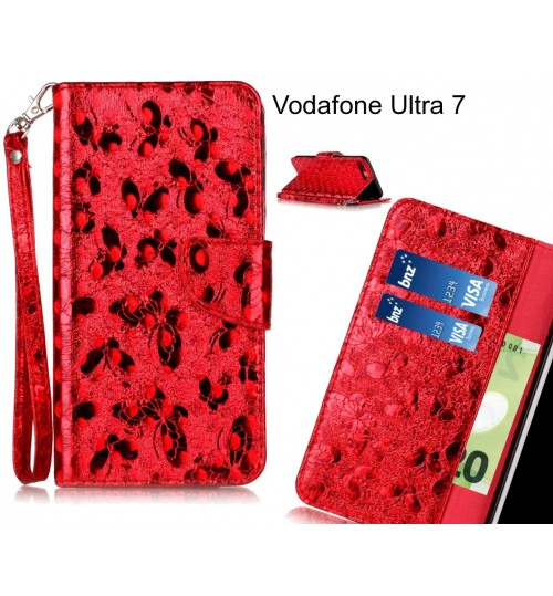 Vodafone Ultra 7  case wallet leather butterfly case