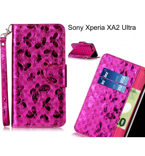 Sony Xperia XA2 Ultra  case wallet leather butterfly case