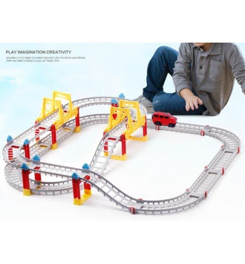 75 pcs Flexible Race Tracks Car Toy Set