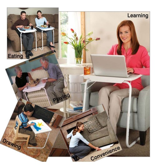 Portable Table Mate Snack Dinner Coffee Table with Cup Holder