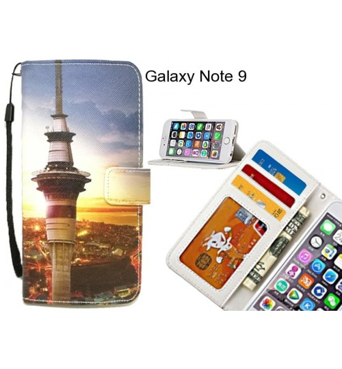 Galaxy Note 9 case 3 card leather wallet case printed ID