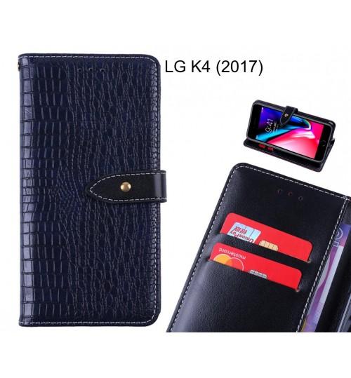 LG K4 (2017) case croco pattern leather wallet case