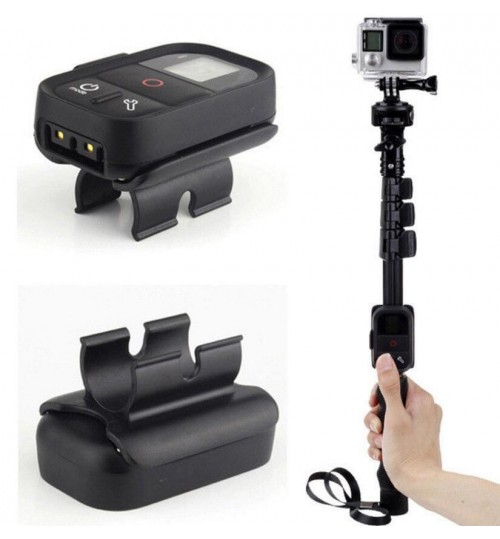 WiFi Remote Clip Mount Lock Holder Adapter for GoPro Monopod Selfie Stick