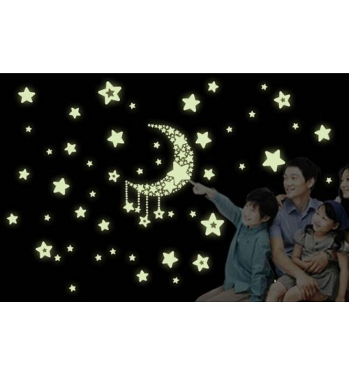 removable night glow in the dark wall sticker & decal room decor