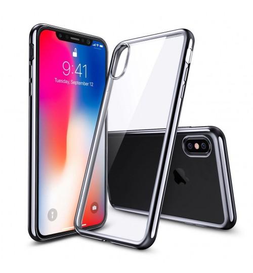 iPhone XS case bumper w clear gel back cover
