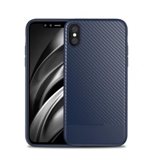iphone XS case impact proof rugged case with carbon fiber