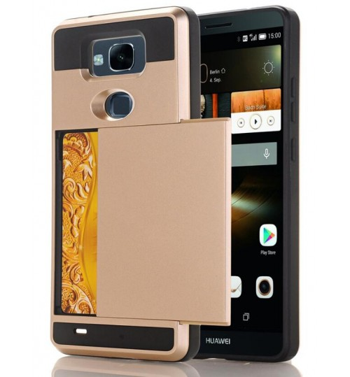 HUAWEI MATE 7 impact proof hybrid case card holder