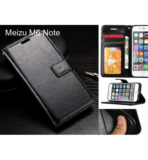 Meizu M6 Note case Fine leather wallet case