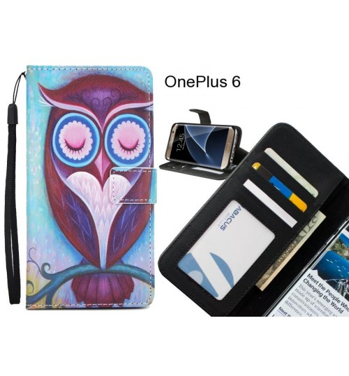 OnePlus 6 case 3 card leather wallet case printed ID