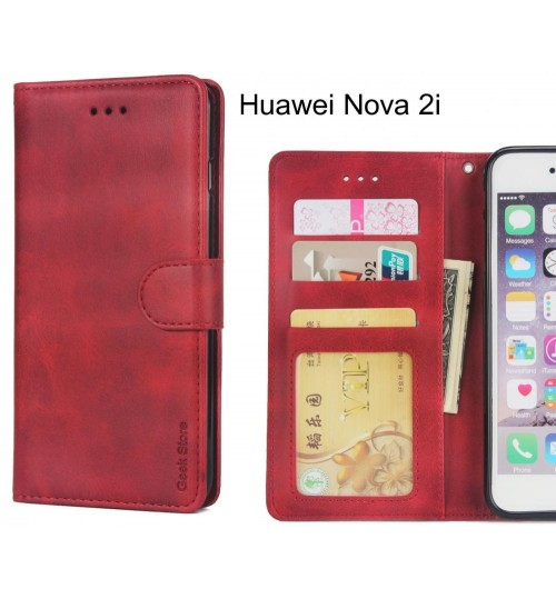 Huawei Nova 2i Case Wallet Leather Vintage Flip Folio Case