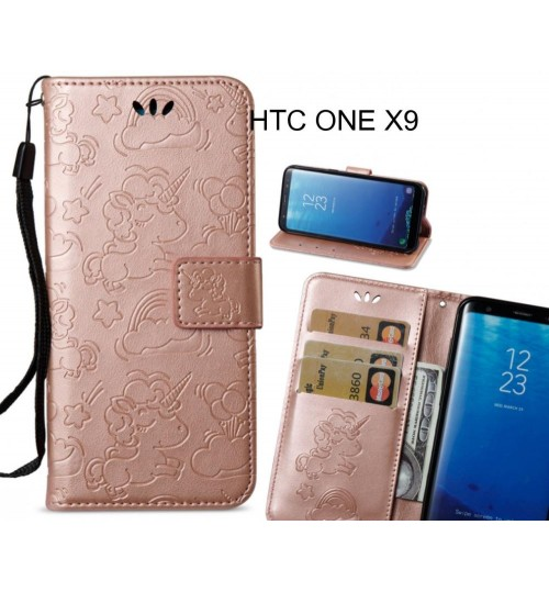 HTC ONE X9 Case Wallet Leather Unicon Case