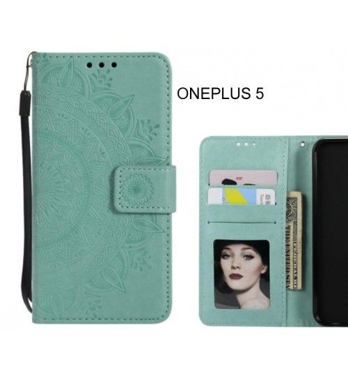 ONEPLUS 5 Case Leather Wallet Case Mandala Embossed