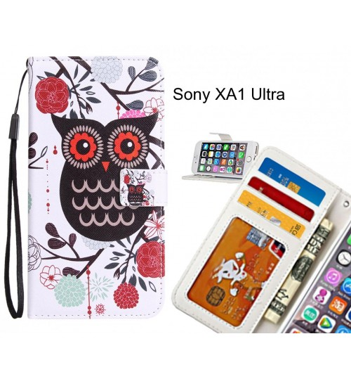Sony XA1 Ultra Case 3 card leather wallet case printed ID