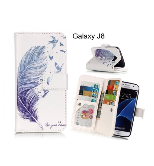 Galaxy J8 case Multifunction wallet leather case