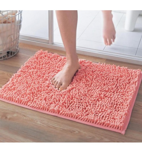 Non slip Microfiber Absorbent Chenille Bath Bathroom Floor Mat Shower Rug