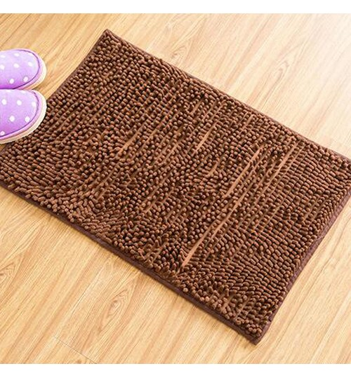 Non slip Microfiber Absorbent Chenille Bath Bathroom Floor Mat Shower Rug