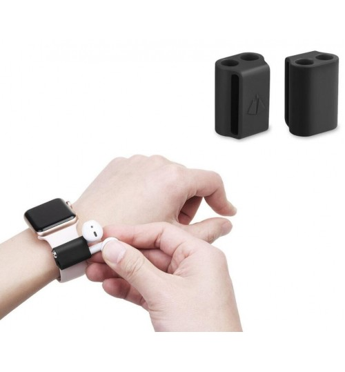 Airpods watch strap Holder Secure AirPods On Wrist Strap black
