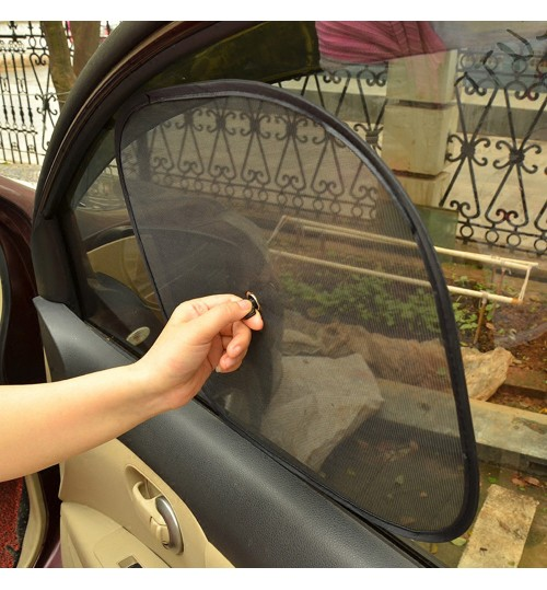 2pcs Net Yarn Car Window Sunshade