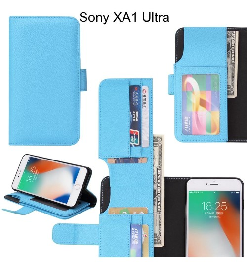 Sony XA1 Ultra Case Leather Wallet Case Cover