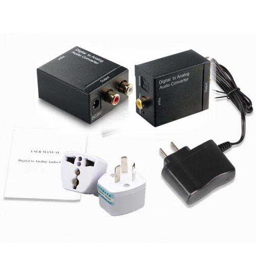 Coaxial Optical to RCA Converter with Accessories
