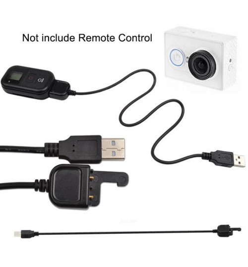 USB Charger Charging Cable Cord for GoPro Hero 5 4 3 3+ WIFI Remote Control