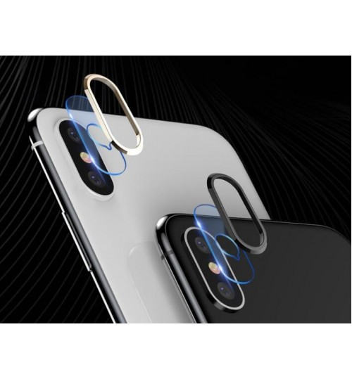 iPhone XS camera lens protector tempered glass and Aluminum Protector Cover
