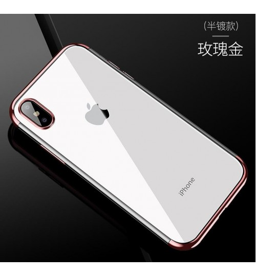 iPhone XR case bumper w clear gel back cover