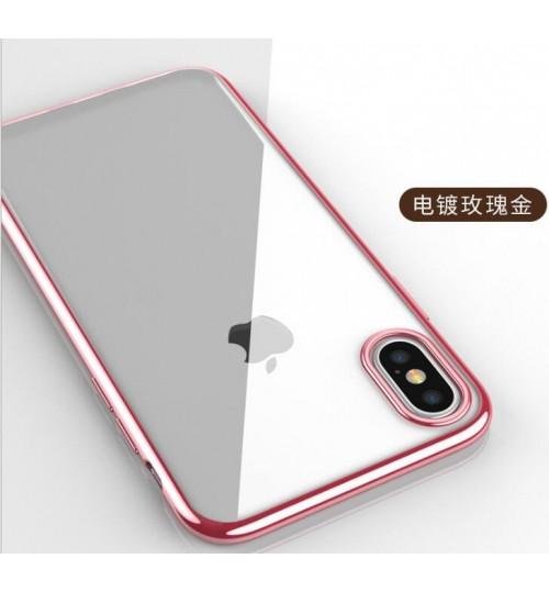 iPhone XS Max case bumper clear gel back cover