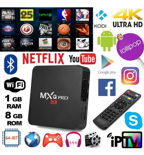 MXQ Pro 4K - Smart TV Box  T96