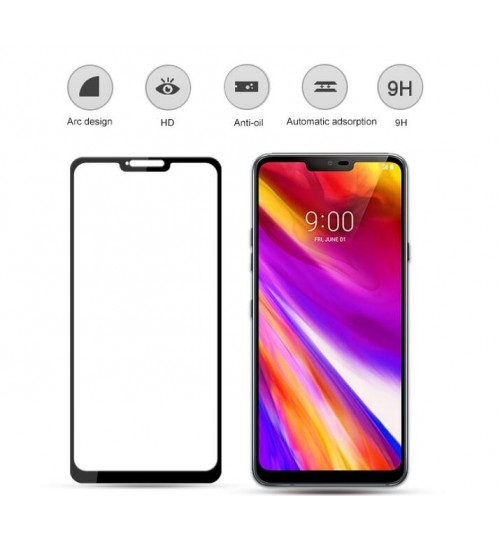 LG G7  FULL Screen covered Tempered Glass Screen Protector