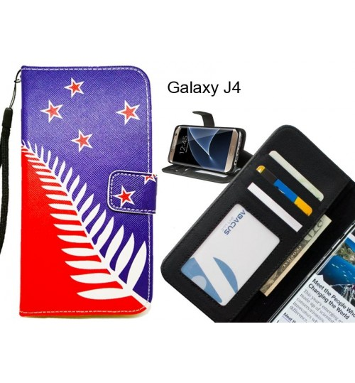 Galaxy J4 case 3 card leather wallet case printed ID