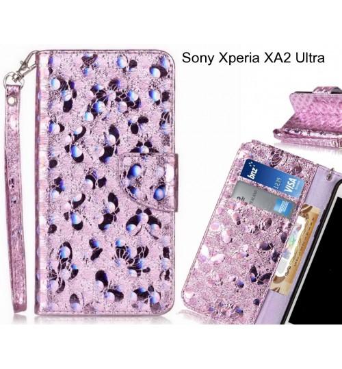 Sony Xperia XA2 Ultra Case Wallet Leather Flip Case laser butterfly