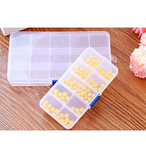 15 Grid Multifunctional Storage Box Adjustable Tool Box Parts Box
