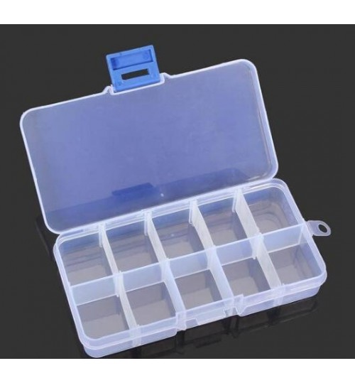 10 Grid Multifunctional Storage Box Adjustable Tool Box Parts Box