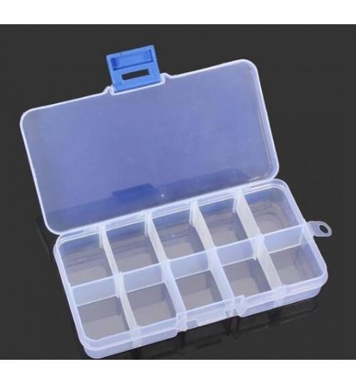 10 Grid Multifunctional Storage Box Adjustable Tool Box Parts Box