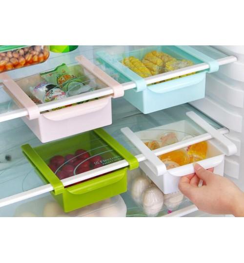 Slide Kitchen Fridge Freezer Space Saver Organizer Storage Rack Shelf