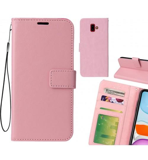 Galaxy J6 Plus case Fine leather wallet case