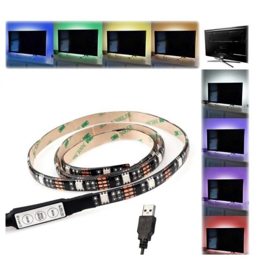 LED Strip TV Background 5050 RGB USB powered