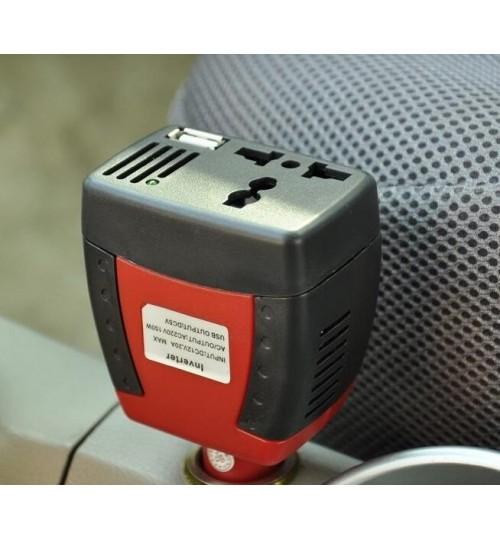 75W Car Inverter 12V DC to 220V AC+USB