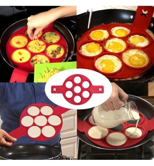 Non Stick Pancake Pan Flip Breakfast Maker Egg Omelette Flipjack Tools