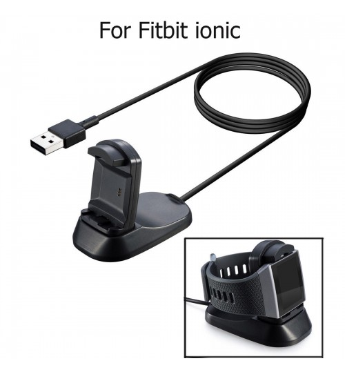 Fitbit ionic USB Power Charger Cable Battery Charging Dock Station Holder