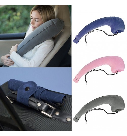 Travel Neck Pillow Head Rest Support Cushion Car Sleep Inflatable Pillows