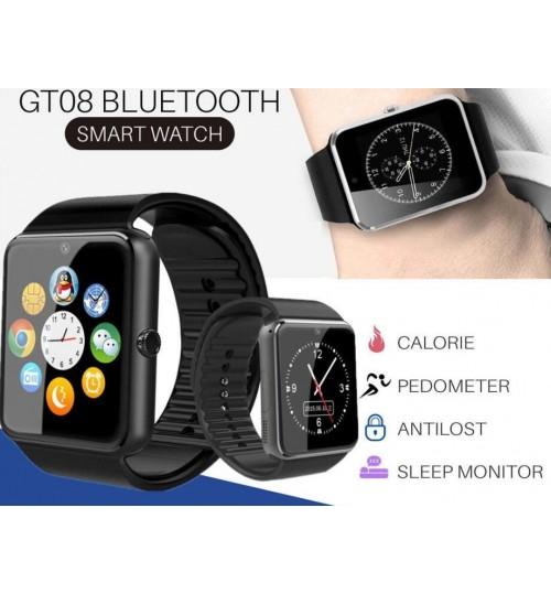 New Bluetooth Smart Wrist Watch GT08 Touch Screen Phone