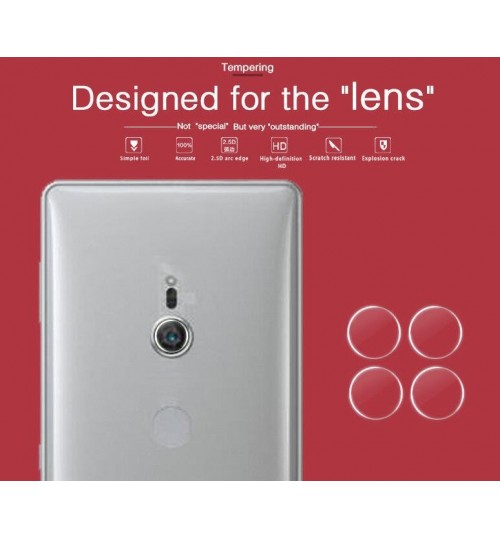 Sony Xperia XZ2 camera lens protector tempered glass 9H hardness HD